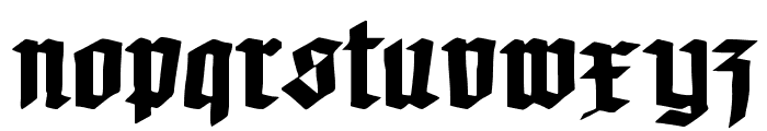Koch-Defrag Font LOWERCASE