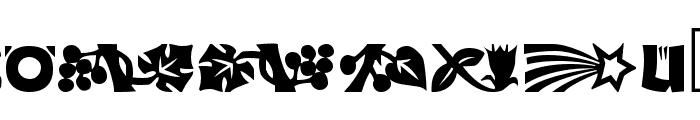 Koch Dingbats Font UPPERCASE
