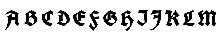 Koch Fette Deutsche Schrift UNZ1A Italic Font UPPERCASE