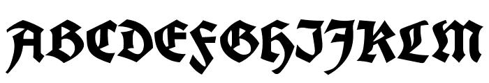 Koch Fette Deutsche Schrift Font UPPERCASE