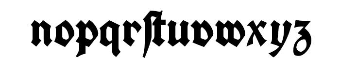 Koch Fette Deutsche Schrift Font LOWERCASE