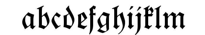Koch-Fraktur OT normal Font LOWERCASE