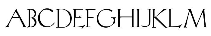 Koch Plain Font UPPERCASE