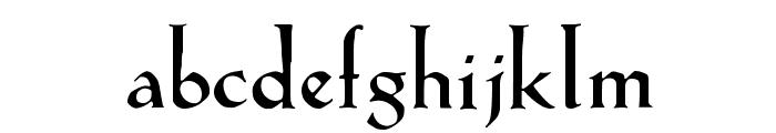 KochAltschrift-Bold Font LOWERCASE