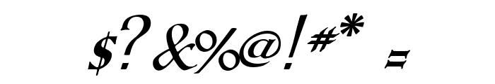 KochAltschriftKursiv-Bold Font OTHER CHARS