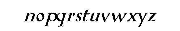 KochAltschriftKursiv-Bold Font LOWERCASE