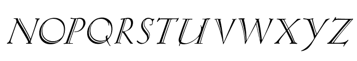 KochAltschriftKursiv Font UPPERCASE