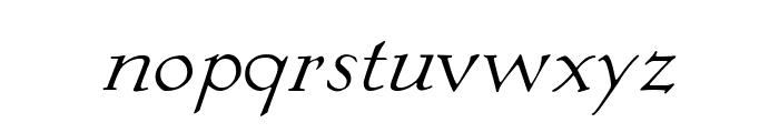 KochAltschriftKursiv Font LOWERCASE