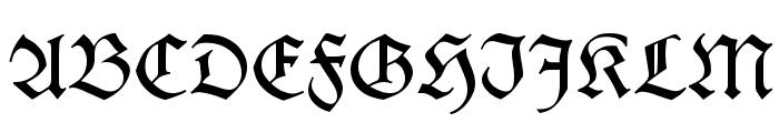 KochFraktur Font UPPERCASE