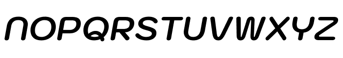 Kodchasan Bold Italic Font UPPERCASE