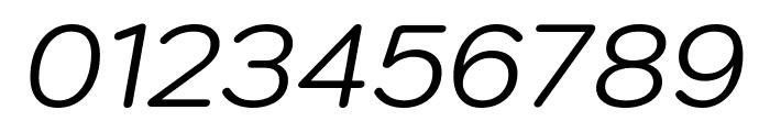 Kodchasan Italic Font OTHER CHARS