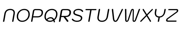 Kodchasan Italic Font UPPERCASE