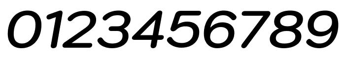 Kodchasan SemiBold Italic Font OTHER CHARS