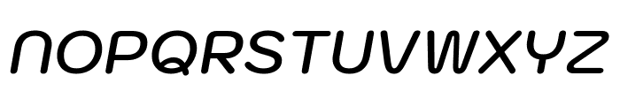 Kodchasan SemiBold Italic Font UPPERCASE