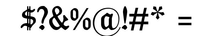 Koenig-Type Font OTHER CHARS