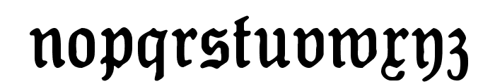 Koenig-Type Font LOWERCASE