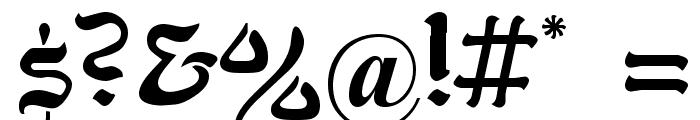 Kohelet Regular Font OTHER CHARS