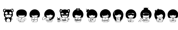 Kokeshi Kawaii Font LOWERCASE