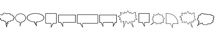 Komika Bubbles Font UPPERCASE