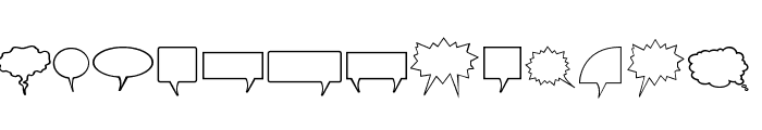 Komika Bubbles Font LOWERCASE