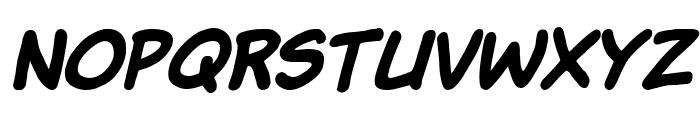Komika Hand Bold Italic Font UPPERCASE