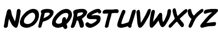 Komika Hand Bold Italic Font LOWERCASE