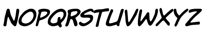Komika Hand Italic Font UPPERCASE