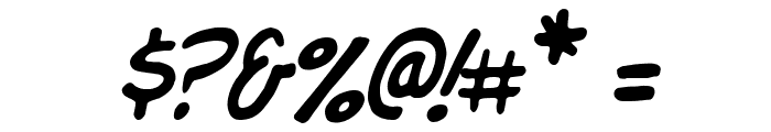 Komika Jam Italic Font OTHER CHARS
