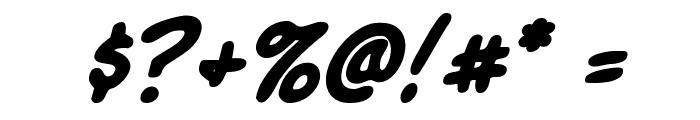 Komika Slick Italic Font OTHER CHARS