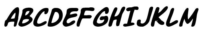 Komika Slick Italic Font UPPERCASE