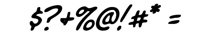 Komika Slim Italic Font OTHER CHARS