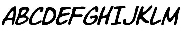 Komika Slim Italic Font UPPERCASE