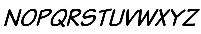 Komika Text Italic Font UPPERCASE
