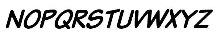 Komika Text Kaps Italic Font LOWERCASE
