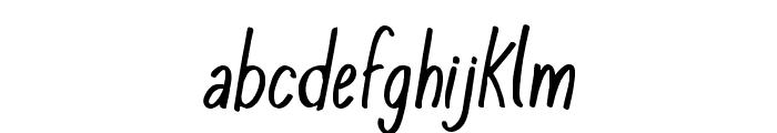 KomixConItalic Font LOWERCASE