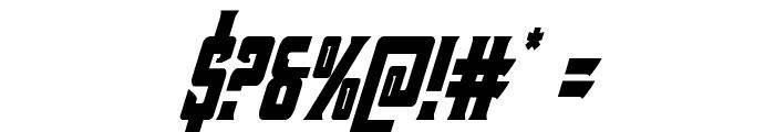 Kondor Condensed Italic Font OTHER CHARS