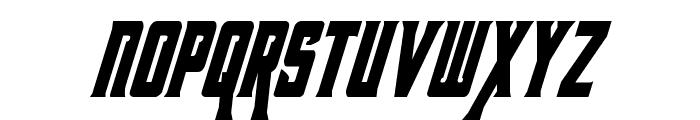 Kondor Condensed Italic Font UPPERCASE