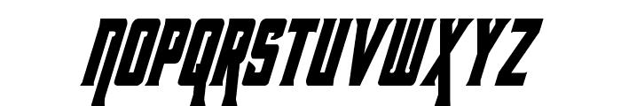 Kondor Condensed Italic Font LOWERCASE