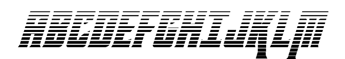 Kondor Gradient Italic Font UPPERCASE