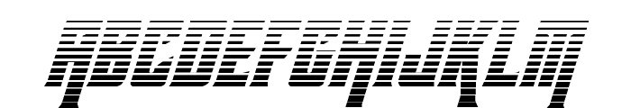 Kondor Gradient Italic Font LOWERCASE