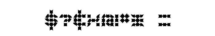 Konector Eerie -BRK- Font OTHER CHARS