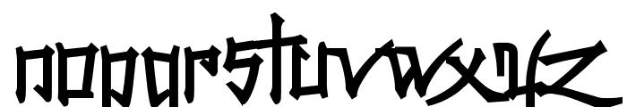 Konfuciuz Fat Font LOWERCASE