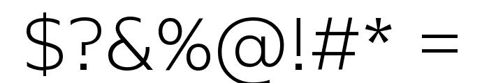 KontrapunktBob-Light Font OTHER CHARS