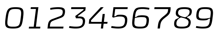KontrapunktLightItalic Font OTHER CHARS