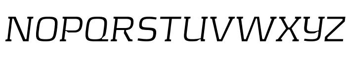 KontrapunktLightItalic Font UPPERCASE