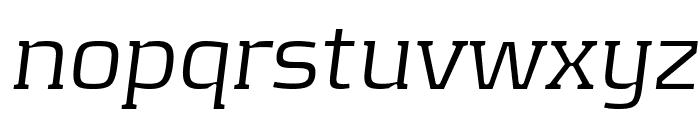 KontrapunktLightItalic Font LOWERCASE