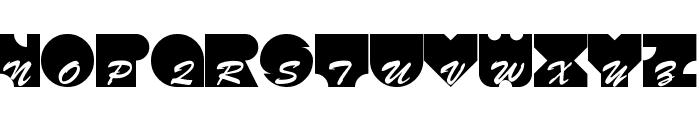 Kontrast Font UPPERCASE