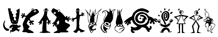 Kooksters Font LOWERCASE