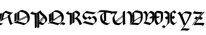Korger Gothic Deux Font UPPERCASE