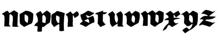 Korger Gothic Deux Font LOWERCASE